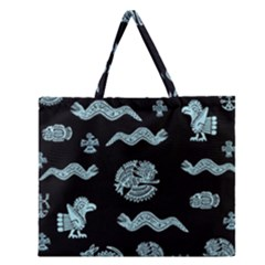 Aztecs Pattern Zipper Large Tote Bag by ValentinaDesign