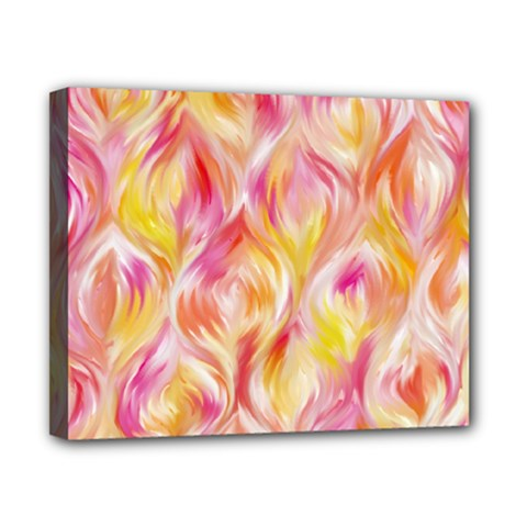 Pretty Painted Pattern Pastel Canvas 10  X 8  by Nexatart
