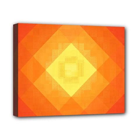 Pattern Retired Background Orange Canvas 10  X 8  by Nexatart