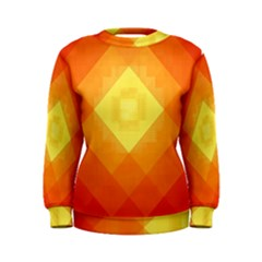 Pattern Retired Background Orange Women s Sweatshirt