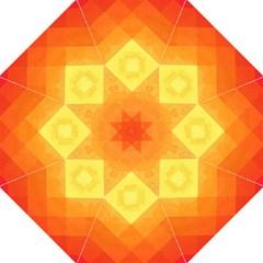 Pattern Retired Background Orange Hook Handle Umbrellas (large) by Nexatart