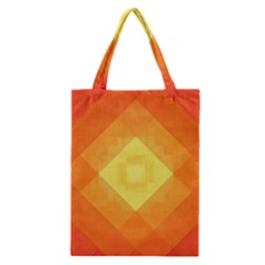 Pattern Retired Background Orange Classic Tote Bag by Nexatart