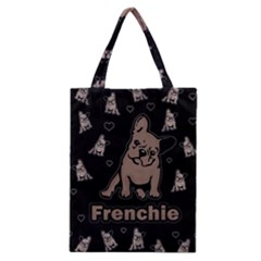 French Bulldog Classic Tote Bag by Valentinaart