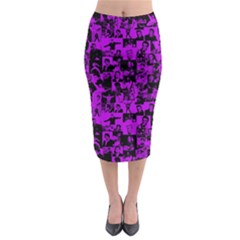 Elvis Presley Pattern Midi Pencil Skirt by Valentinaart