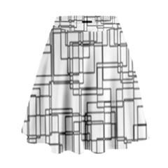 Structure Pattern Network High Waist Skirt by Nexatart