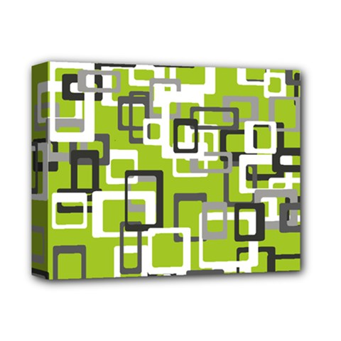 Pattern Abstract Form Four Corner Deluxe Canvas 14  X 11  by Nexatart