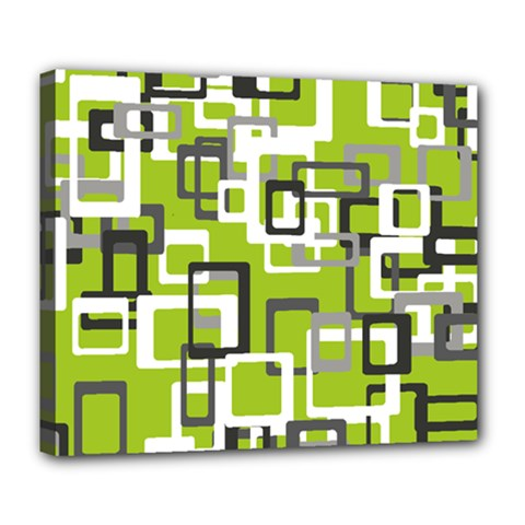 Pattern Abstract Form Four Corner Deluxe Canvas 24  X 20   by Nexatart