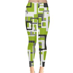 Pattern Abstract Form Four Corner Leggings  by Nexatart