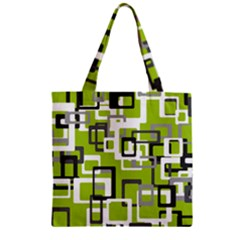 Pattern Abstract Form Four Corner Zipper Grocery Tote Bag by Nexatart