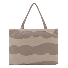 Pattern Wave Beige Brown Medium Tote Bag by Nexatart