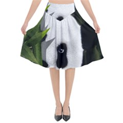 Panda Flared Midi Skirt by Valentinaart