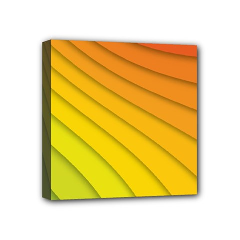 Abstract Pattern Lines Wave Mini Canvas 4  X 4  by Nexatart
