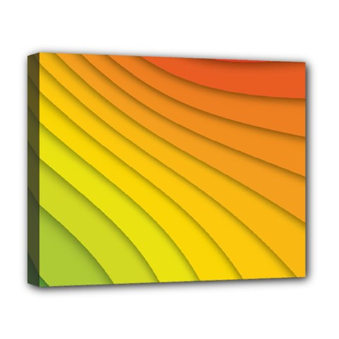 Abstract Pattern Lines Wave Deluxe Canvas 20  X 16   by Nexatart