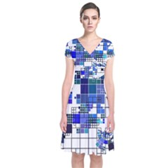 Design Short Sleeve Front Wrap Dress by Nexatart