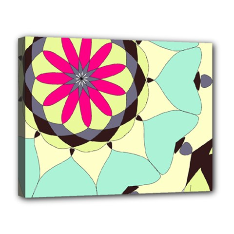 Pink Flower Canvas 14  X 11  by theunrulyartist