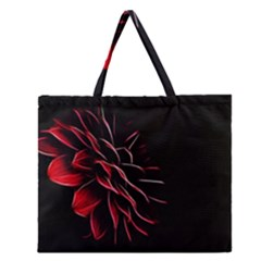 Pattern Design Abstract Background Zipper Large Tote Bag by Nexatart