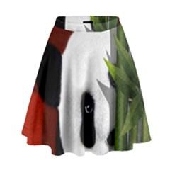 Panda High Waist Skirt by Valentinaart