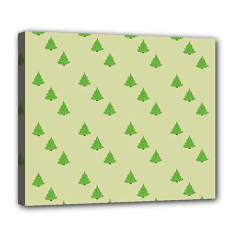 Christmas Wrapping Paper Pattern Deluxe Canvas 24  X 20   by Nexatart