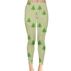Christmas Wrapping Paper Pattern Leggings  by Nexatart