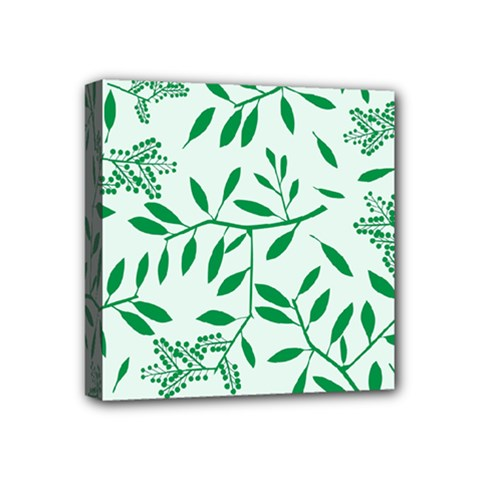 Leaves Foliage Green Wallpaper Mini Canvas 4  X 4  by Nexatart