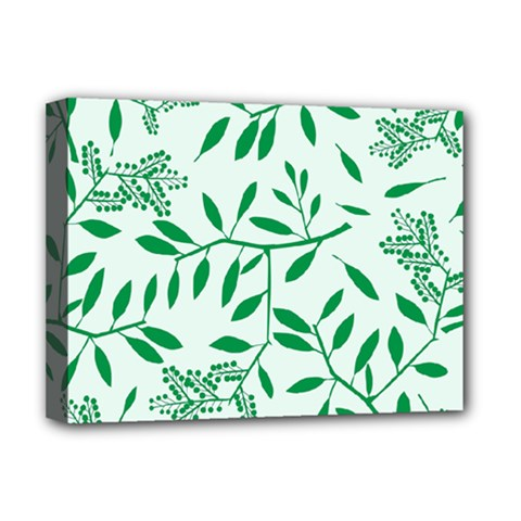 Leaves Foliage Green Wallpaper Deluxe Canvas 16  X 12   by Nexatart