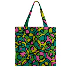 Circle Background Background Texture Zipper Grocery Tote Bag by Nexatart