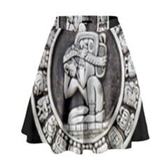 Pattern Motif Decor High Waist Skirt by Nexatart
