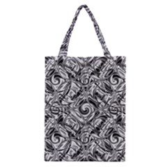 Gray Scale Pattern Tile Design Classic Tote Bag by Nexatart