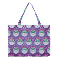 Background Floral Pattern Purple Medium Tote Bag by Nexatart