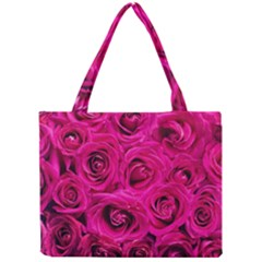 Pink Roses Roses Background Mini Tote Bag by Nexatart