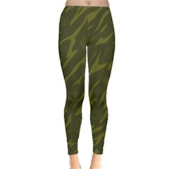 Linux Logo Camo Green Leggings  by bullshitdesign
