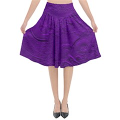 Texture Background Backgrounds Flared Midi Skirt by Nexatart