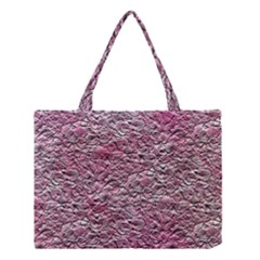 Leaves Pink Background Texture Medium Tote Bag by Nexatart