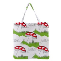 Mushroom Luck Fly Agaric Lucky Guy Grocery Tote Bag by Nexatart
