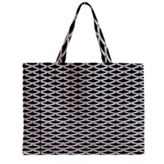 Expanded Metal Facade Background Zipper Mini Tote Bag by Nexatart