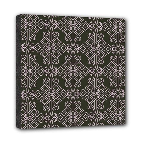 Line Geometry Pattern Geometric Mini Canvas 8  X 8  by Nexatart