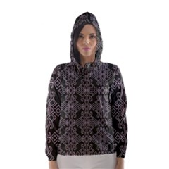 Line Geometry Pattern Geometric Hooded Wind Breaker (women) by Nexatart