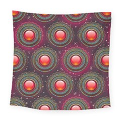Abstract Circle Gem Pattern Square Tapestry (large) by Nexatart