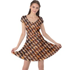 Dirty Pattern Roof Texture Cap Sleeve Dresses by Nexatart