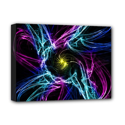 Abstract Art Color Design Lines Deluxe Canvas 16  X 12   by Nexatart