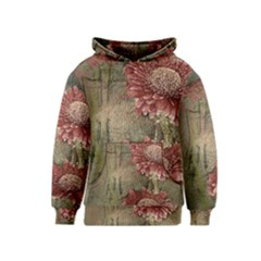 Flowers Plant Red Drawing Art Kids  Pullover Hoodie by Nexatart