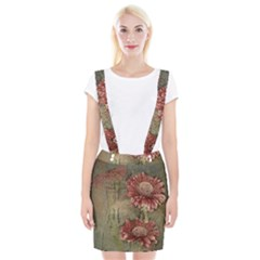 Flowers Plant Red Drawing Art Braces Suspender Skirt by Nexatart