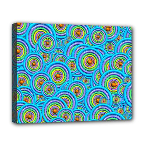 Digital Art Circle About Colorful Deluxe Canvas 20  X 16   by Nexatart
