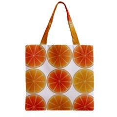 Orange Discs Orange Slices Fruit Zipper Grocery Tote Bag by Nexatart
