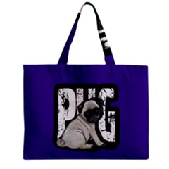 Pug Zipper Mini Tote Bag by Valentinaart