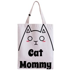 Love My Cat Mommy Zipper Classic Tote Bag by Catifornia
