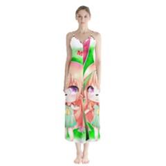 Happy Mother s Day Furry Girl Chiffon Maxi Dress by Catifornia