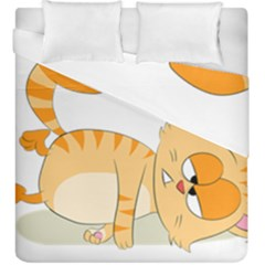 Even Cat Hates Monday Duvet Cover Double Side (king Size) by Catifornia