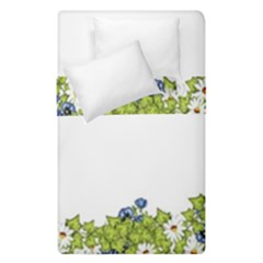 Birthday Card Flowers Daisies Ivy Duvet Cover Double Side (single Size) by Nexatart