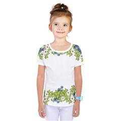 Birthday Card Flowers Daisies Ivy Kids  One Piece Tee by Nexatart